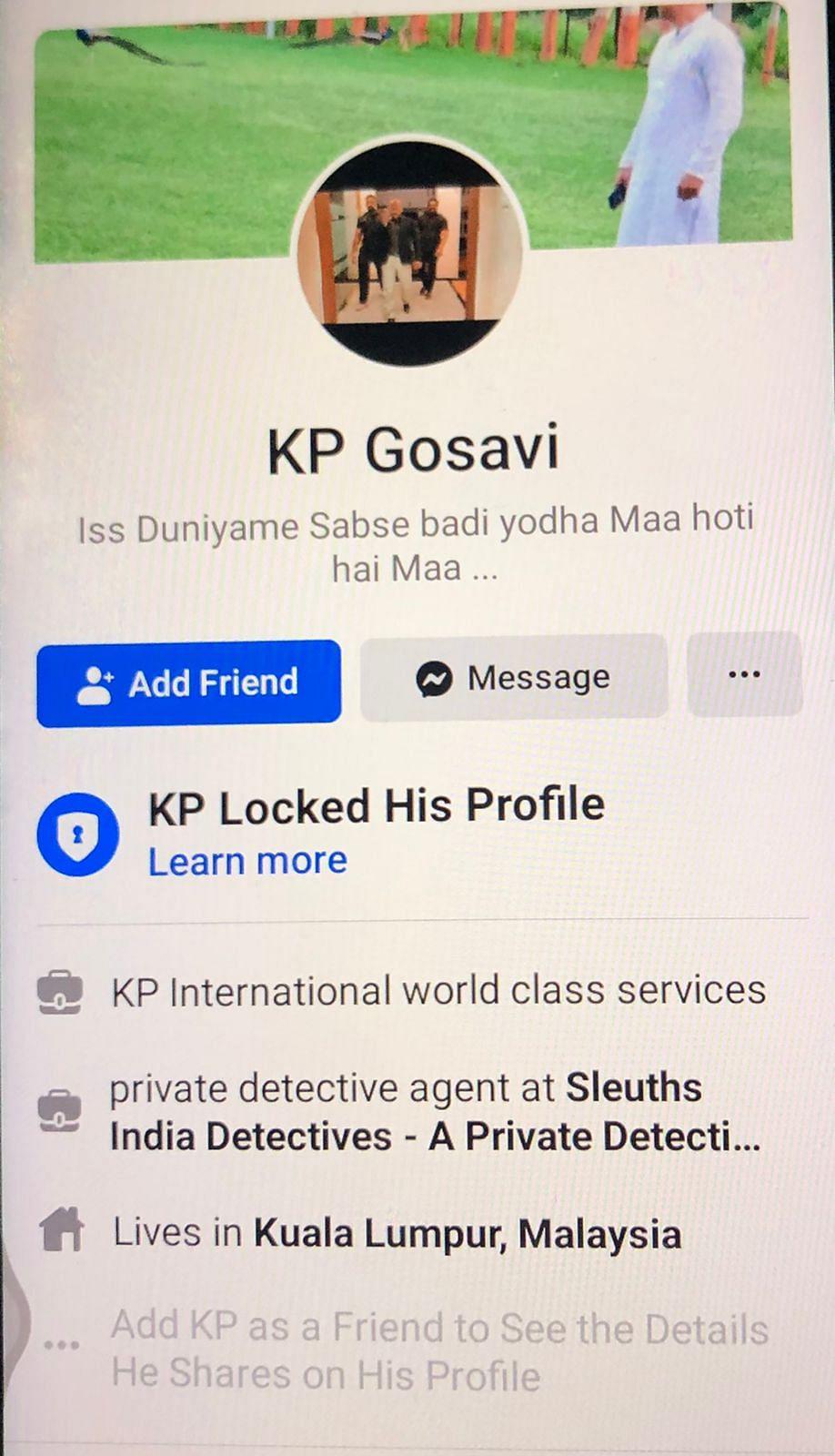 "<div class=""paragraphs""><p>Nawab Malik has questioned the presence of one KP Gosavi during the NCB raid.</p></div>"