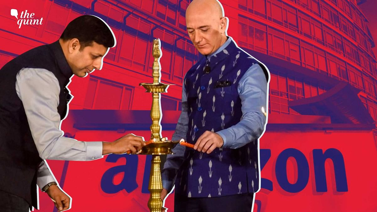 """<div class=""""paragraphs""""><p>Amit Agarwal (Amazon India Head) and Jeff Bezos (Founder and Executive Chairperson of Amazon). Photo used for representational purposes only.</p></div>"""
