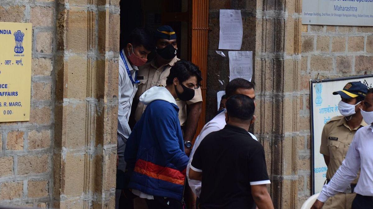 "<div class=""paragraphs""><p>Aryan Khan outside the Narcotics Control Bureau (NCB) office.</p></div>"