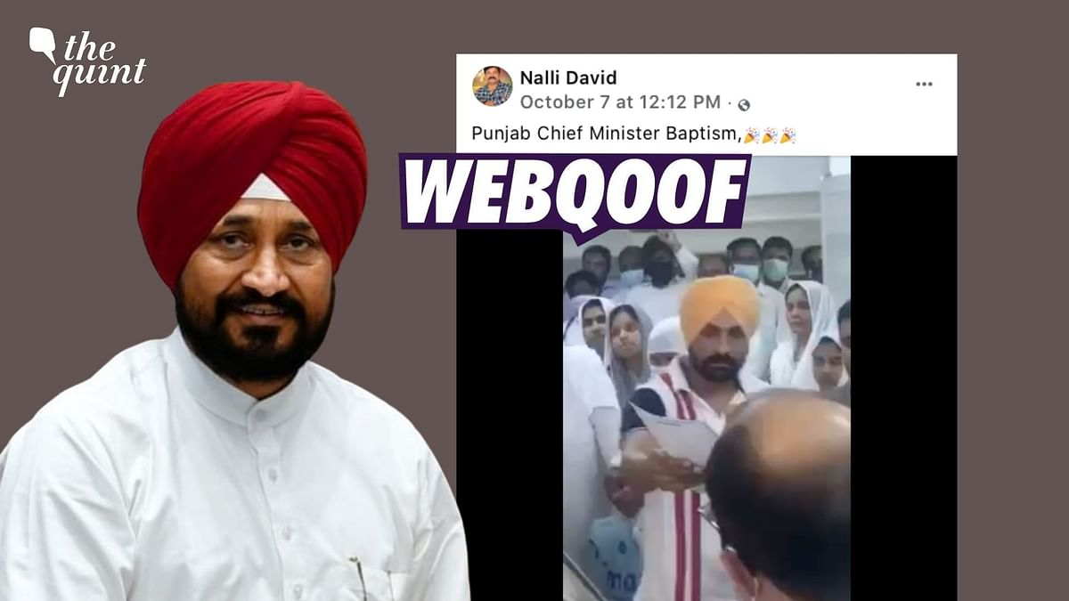 Man in Video Getting Baptised Misidentified as Punjab CM Charanjit Channi