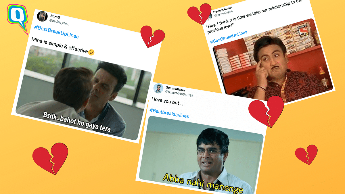 """<div class=""""paragraphs""""><p>Desi Twitter Is Sharing Its 'Best Breakup Lines' and They Are Gold</p></div>"""