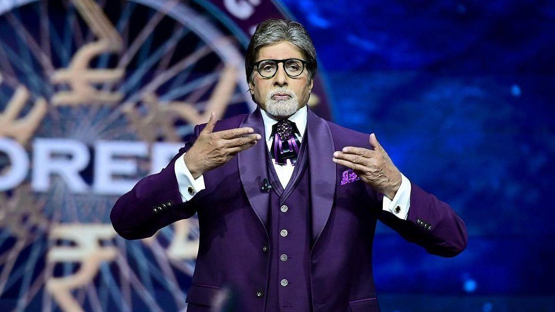 "<div class=""paragraphs""><p>Amitabh Bachchan on the sets of&nbsp;<em>Kaun Banega Crorepati 13.</em></p></div>"