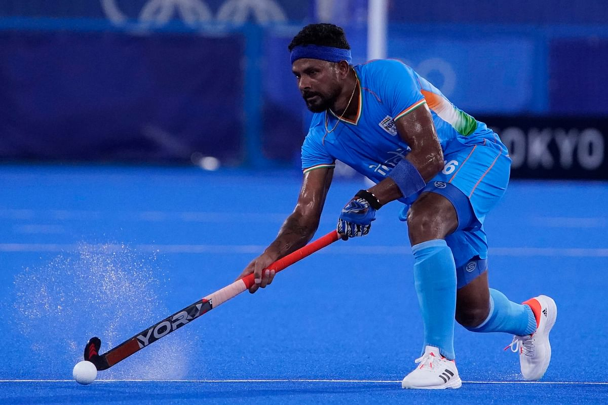 """<div class=""""paragraphs""""><p>Birendra Lakra in action at the Tokyo Olympics.</p></div>"""