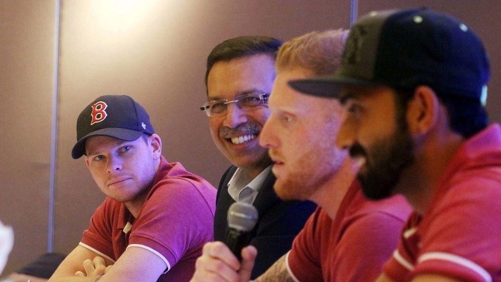 "<div class=""paragraphs""><p>Steve Smith, Pune Supergiant owner Sanjiv Goenka, Ben Stokes and Ajinkya Rahane.</p></div>"