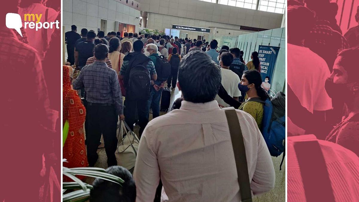 "<div class=""paragraphs""><p>Chaos at Mumbai airport on Friday, 8 October.</p></div>"
