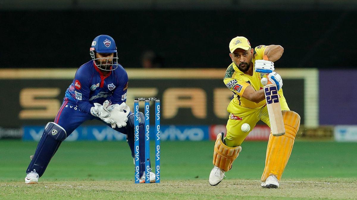 "<div class=""paragraphs""><p>MS Dhoni batting during the game against Delhi Capitals</p></div>"