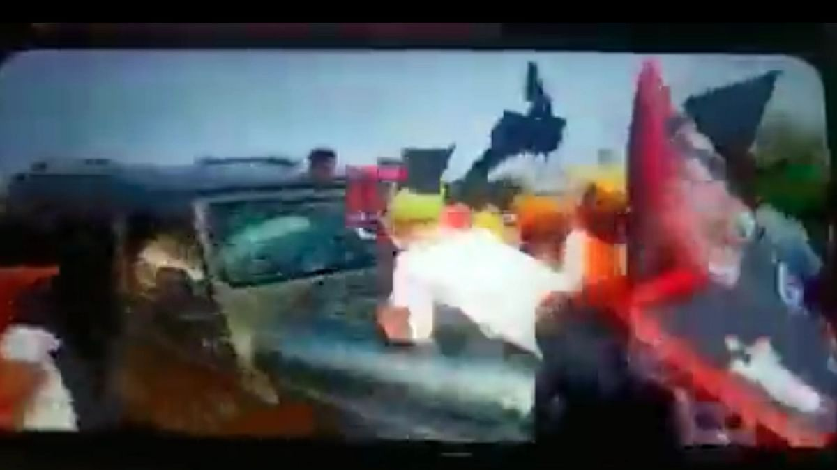 Viral Video Appears To Show Car Mowing Down Farmers at Lakhimpur Kheri