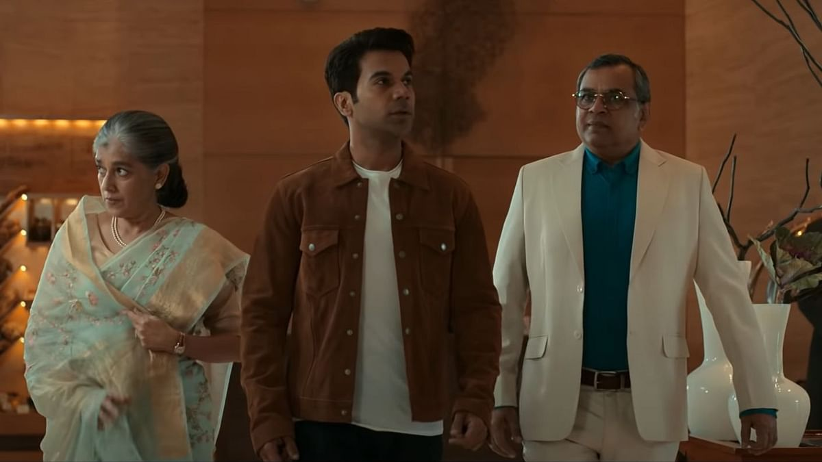 """<div class=""""paragraphs""""><p>Ratna Pathak Shah, Rajkummar Rao, and Paresh Rawal in the&nbsp;<em>Hum Do Hamare Do&nbsp;</em>trailer.</p></div>"""