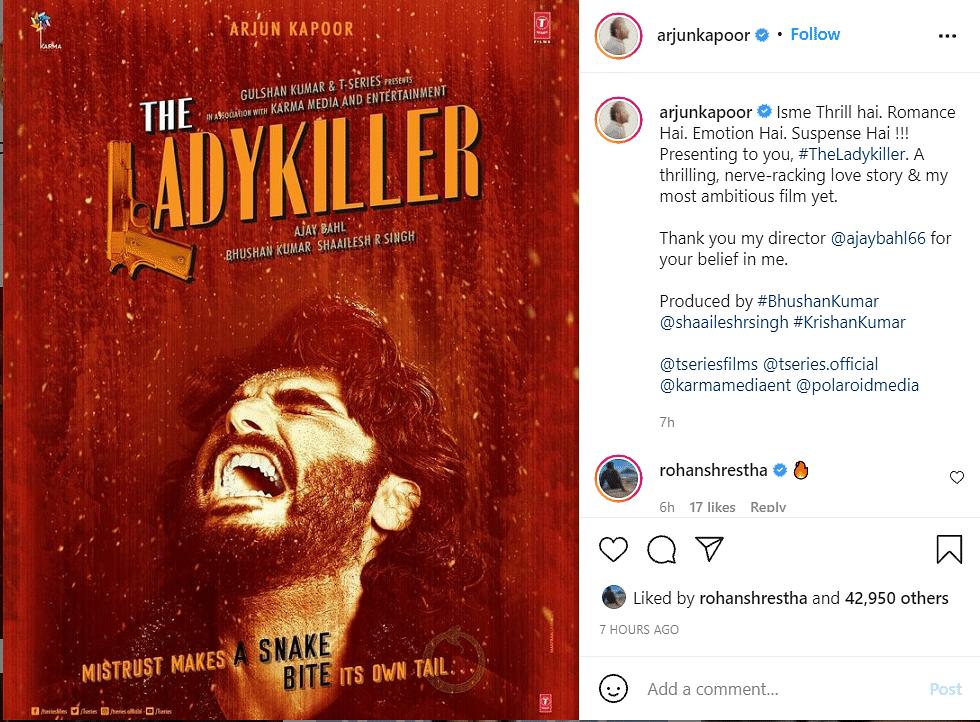 A Nerve-Wracking Love Story: Arjun Kapoor Announces Next Film, The Ladykiller