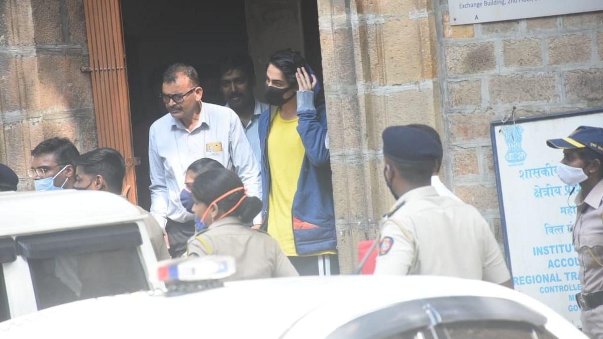 "<div class=""paragraphs""><p>Shah Rukh Khan's son Aryan Khan outside Killa Court.</p></div>"