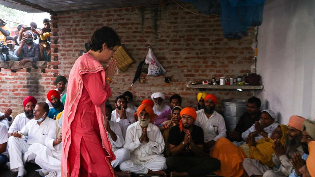 Lakhimpur Unrest: Priyanka Gandhi Meets Kin of Slain Farmers in Bahraich
