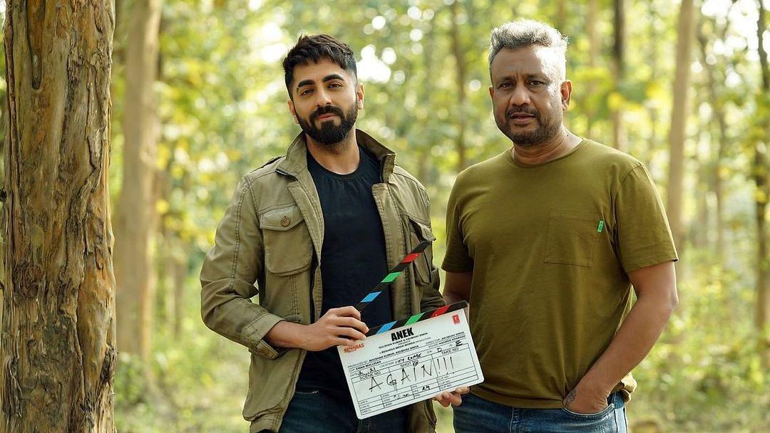 "<div class=""paragraphs""><p>Ayushmann Khurrana with&nbsp;<em>Anek&nbsp;</em>director Anubhav Sinha.</p></div>"
