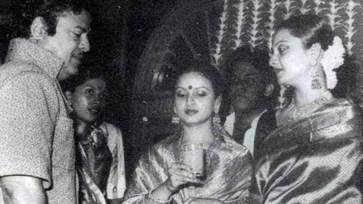 "<div class=""paragraphs""><p>Rekha with her parents&nbsp;Gemini Ganesan and&nbsp;Pushpavalli.</p></div>"