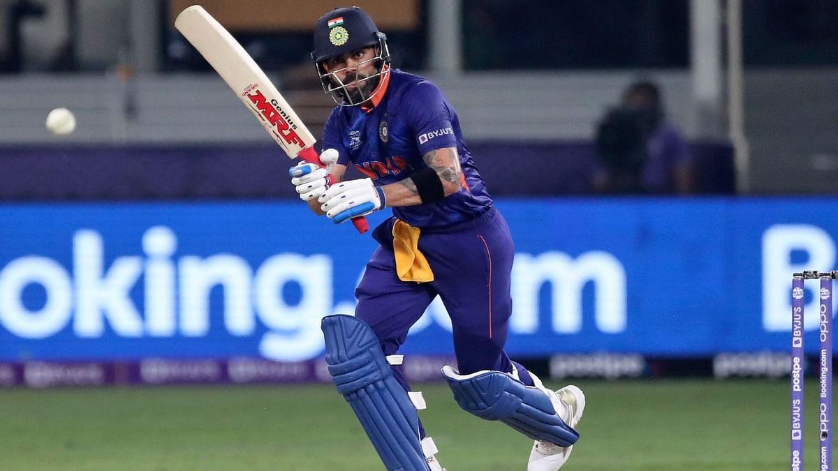 """<div class=""""paragraphs""""><p>Virat Kohli scored a half-century for India against Pakistan.</p></div>"""