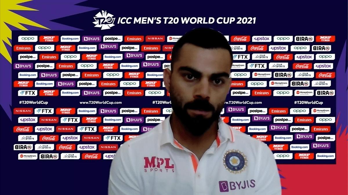 "<div class=""paragraphs""><p>Virat Kohli spoke before India's 2021 T20 World Cup match vs Pakistan.</p></div>"