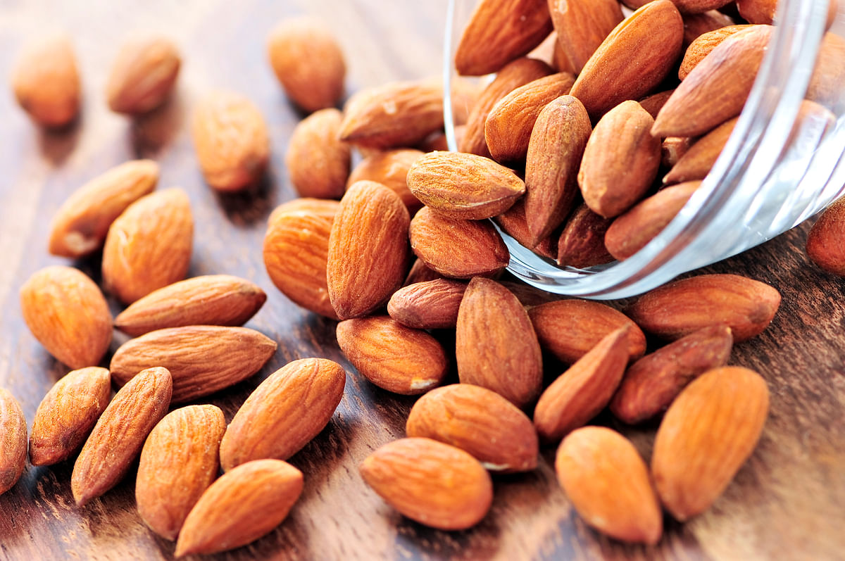 Almonds pack a powerful healthy punch.