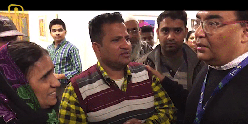 Anas Abdul Wajid (right), Max Hospital's spokesperson, with worried patients on Saturday.