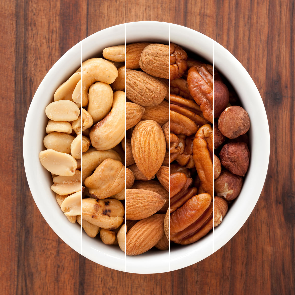 Cashews and almonds are full of zinc, whilst walnuts are high in omega-3.