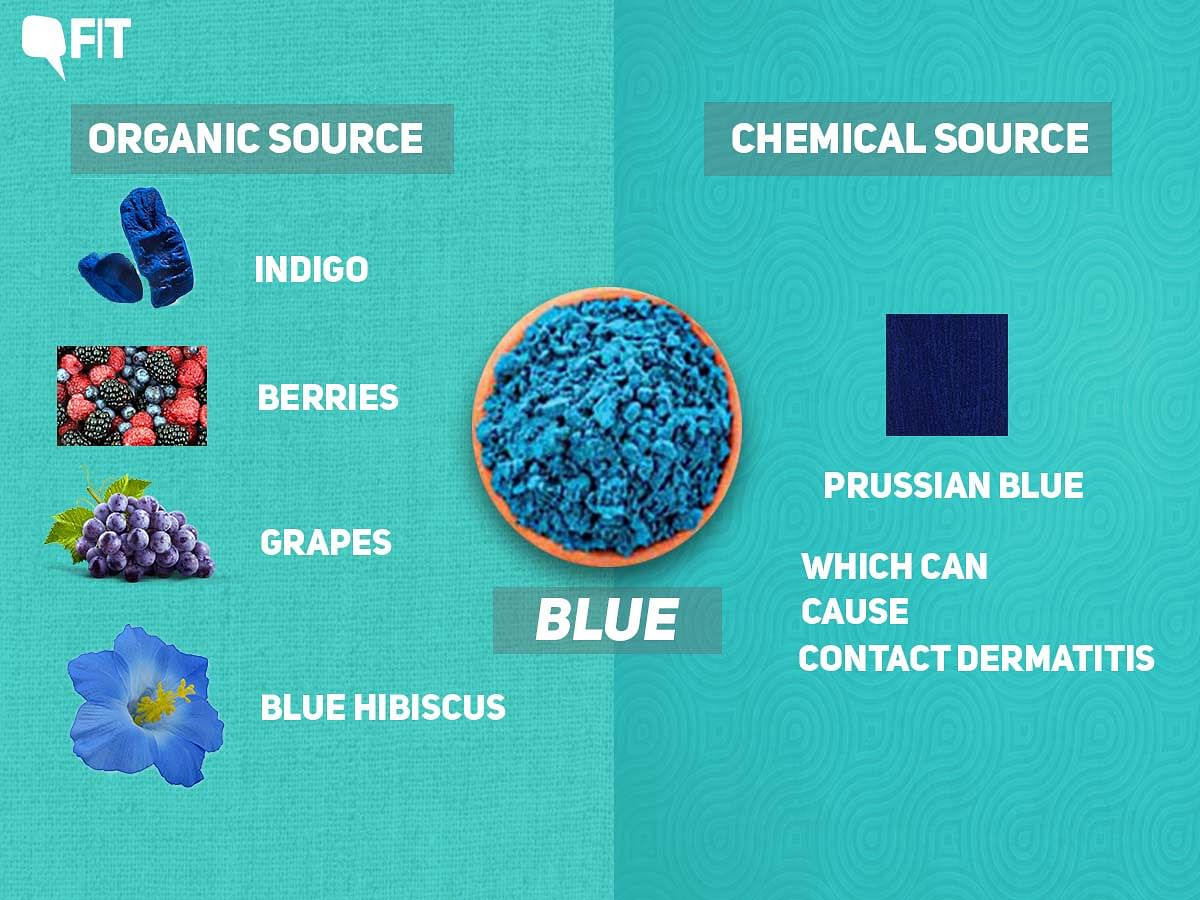 Prussian blue, which is now used for the blue colour, can cause contact dermatitis.