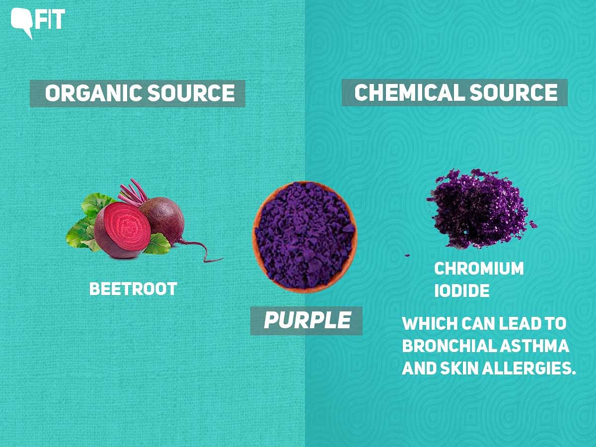 Beetroot was an organic source of making purple colour.