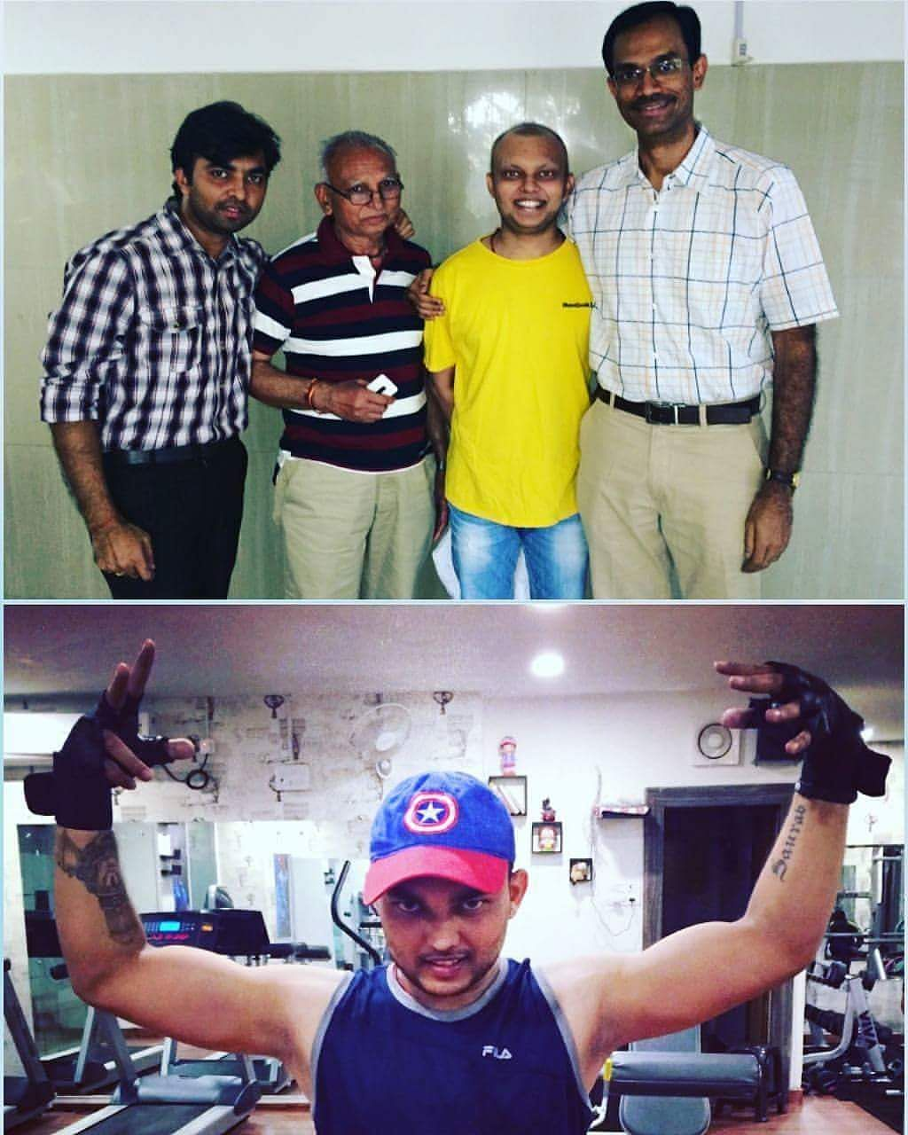Harteij, as he battled cancer and took to gyming to improve his immunity.