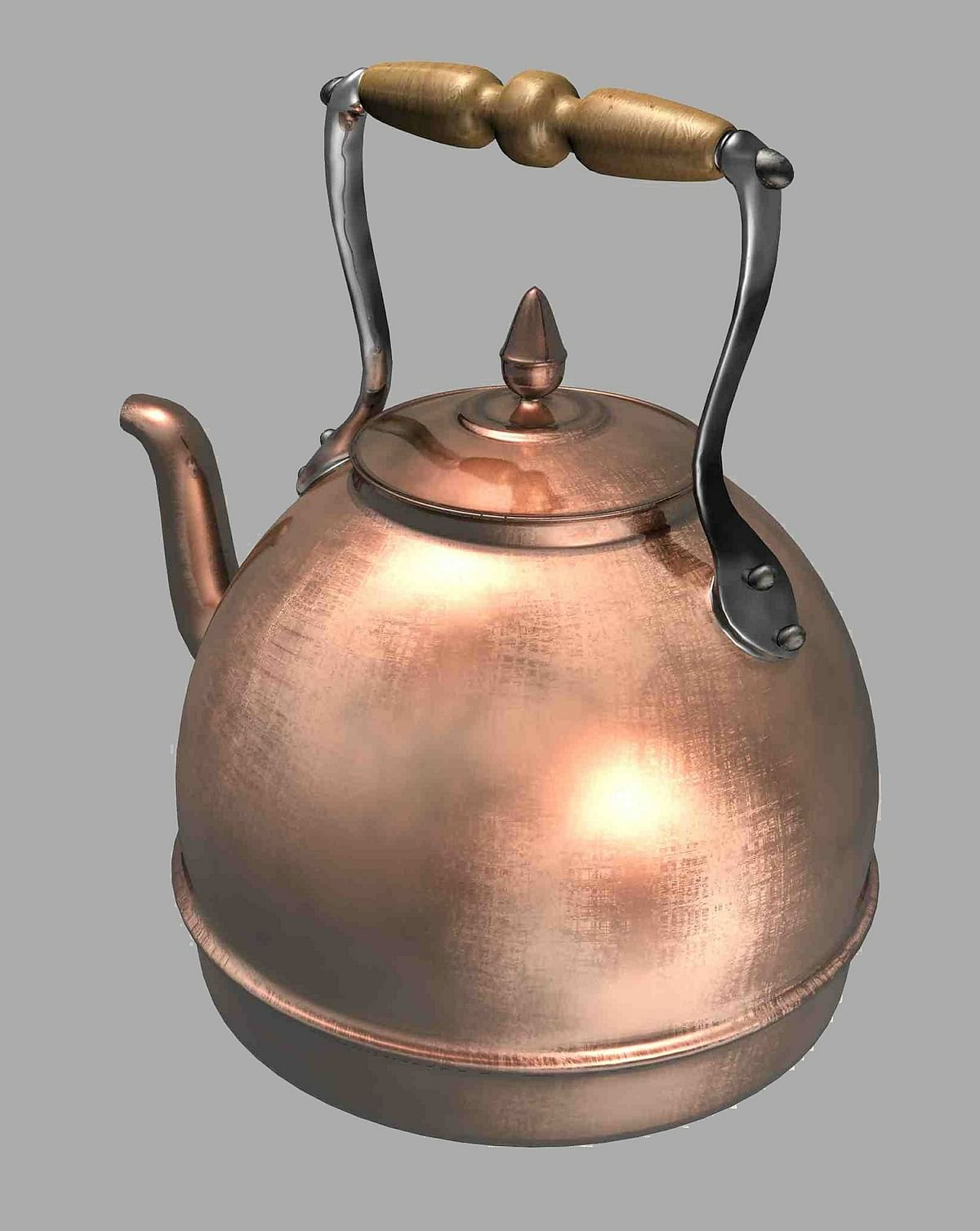 Drinking water from a copper glass can keep water-borne diseases at bay.