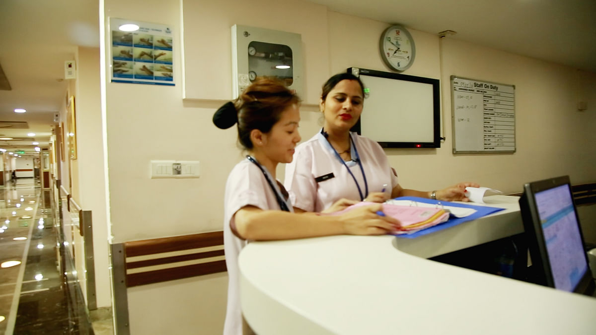 Working as a nurse often requires her to spend more time away from her family and home.