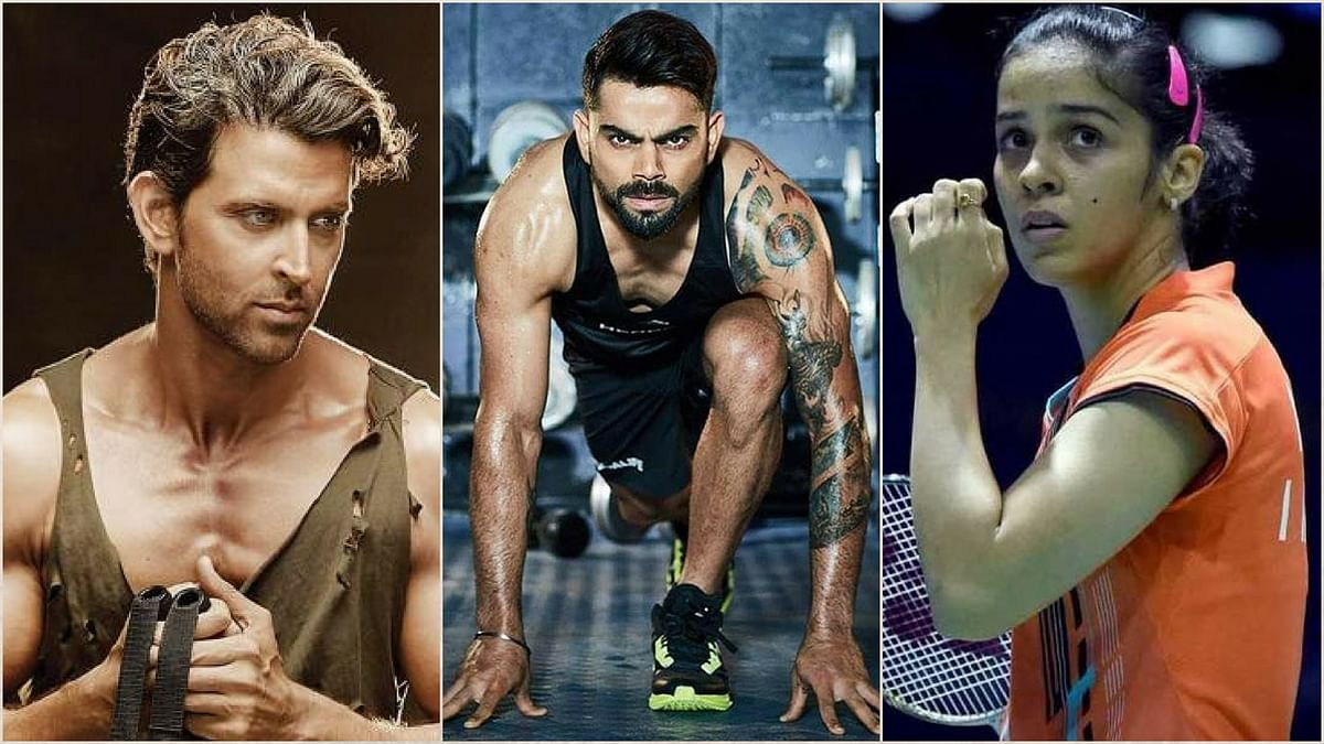 Virat and Hrithik Join the  Sports Minister in #FITnessChallenge