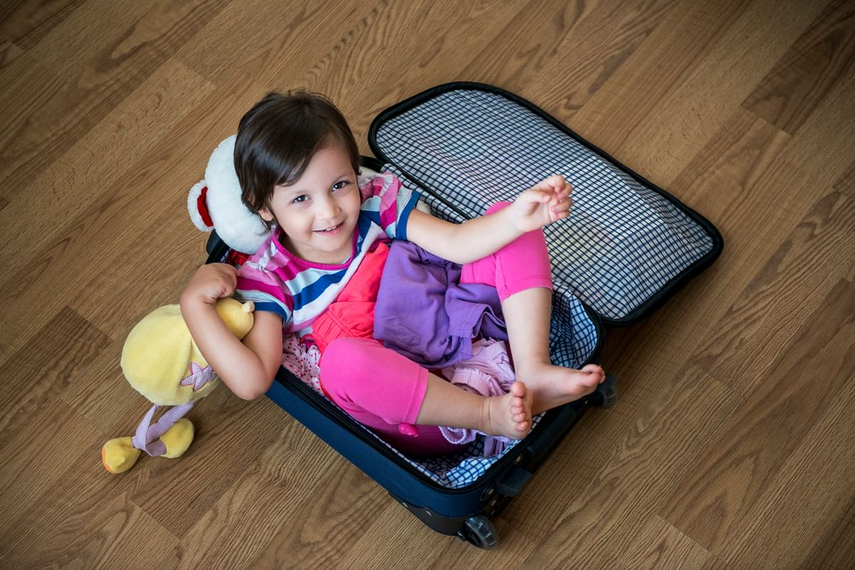 Pack light, pack efficiently when travelling with the child.