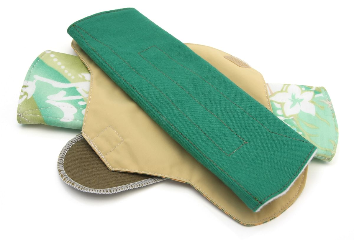 These biodegradable sanitary pads are made using natural products like banana or jute fibre or even re-usable clothes.