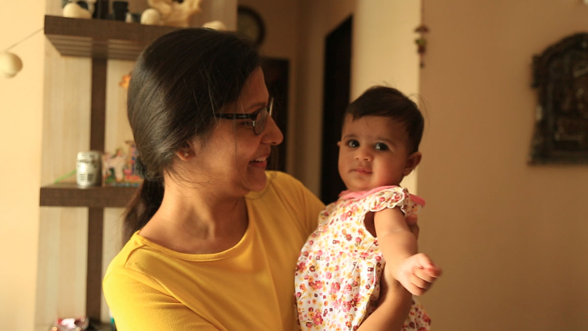 Chhavi Shah spends time with her daughter.