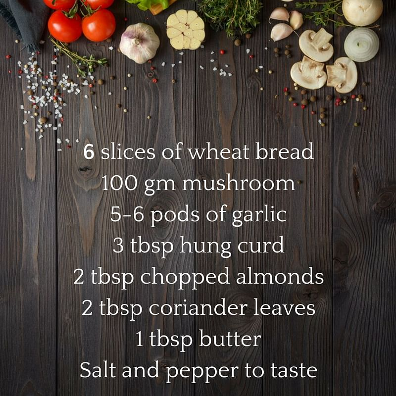 FITRecipe: You Have To Try Our Special Monsoon Mushroom Sandwich