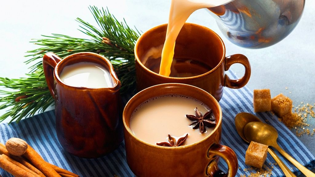 Yes, my chai looks a lot like the picture above.