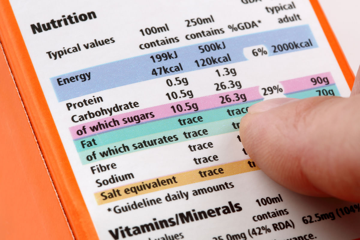 Polyunsaturated and monounsaturated fat are the good fats but most labels don't have these mentioned.