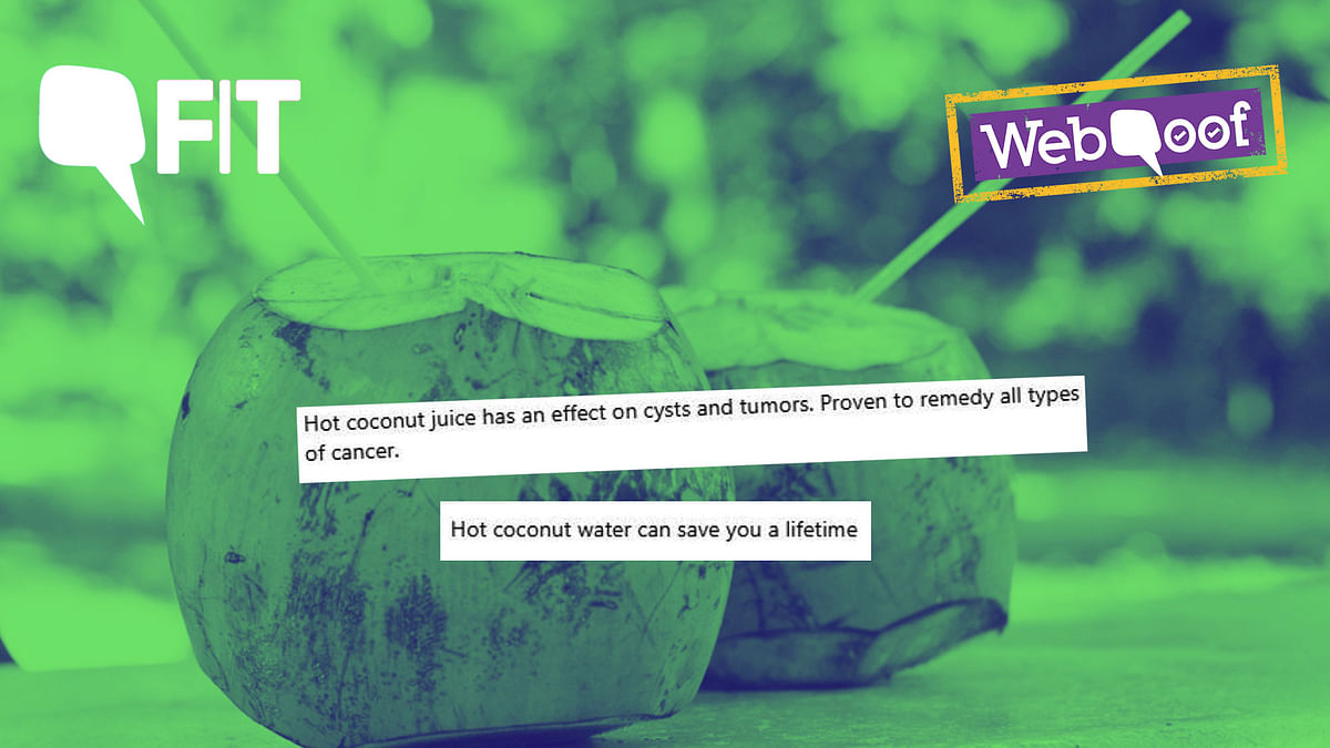 Fit WebQoof: No, Hot Coconut Water Won't Cure Cancer