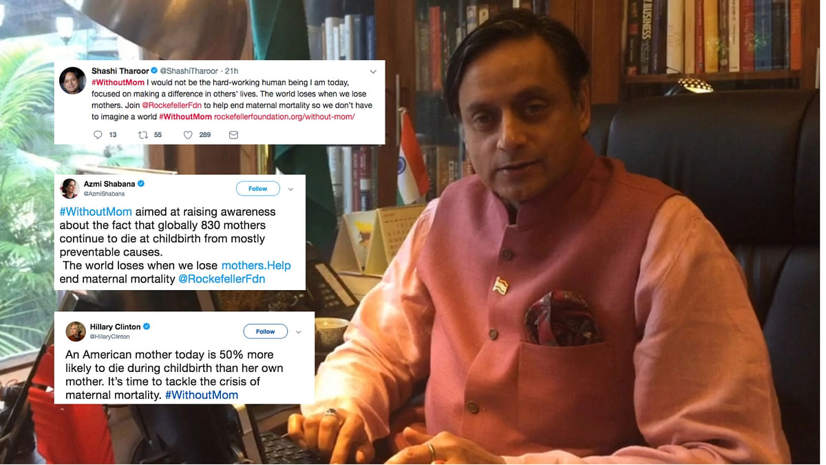 Mother's Day: Shashi Tharoor, Hillary Clinton Tweet #WithoutMom