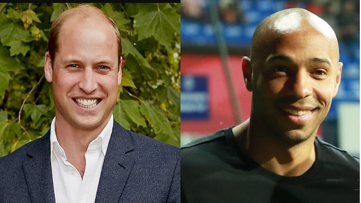 Prince William (L) and Thierry Henry