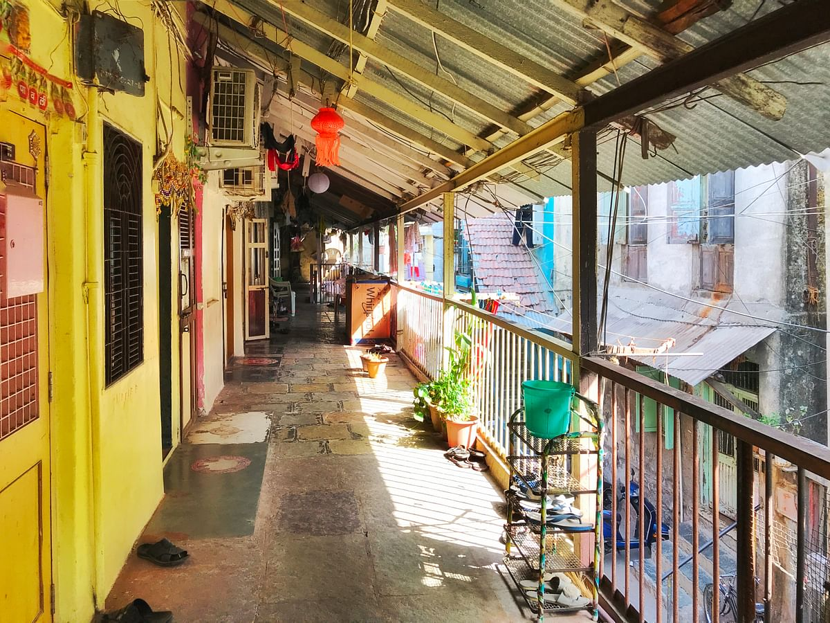 The chawl where the Lavates live.