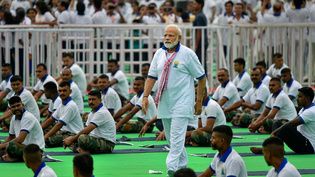 Yoga Day 2019: PM Modi Performs Yoga With 40,000 Participants