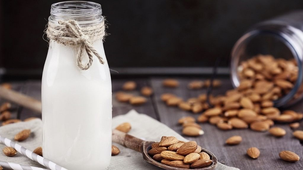 Milk and almonds are rich in calcium, and calcium is great for reducing anxiety.