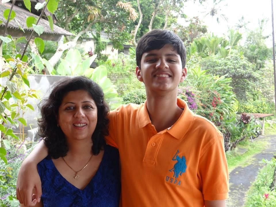 Pranav and his mother, Anupama