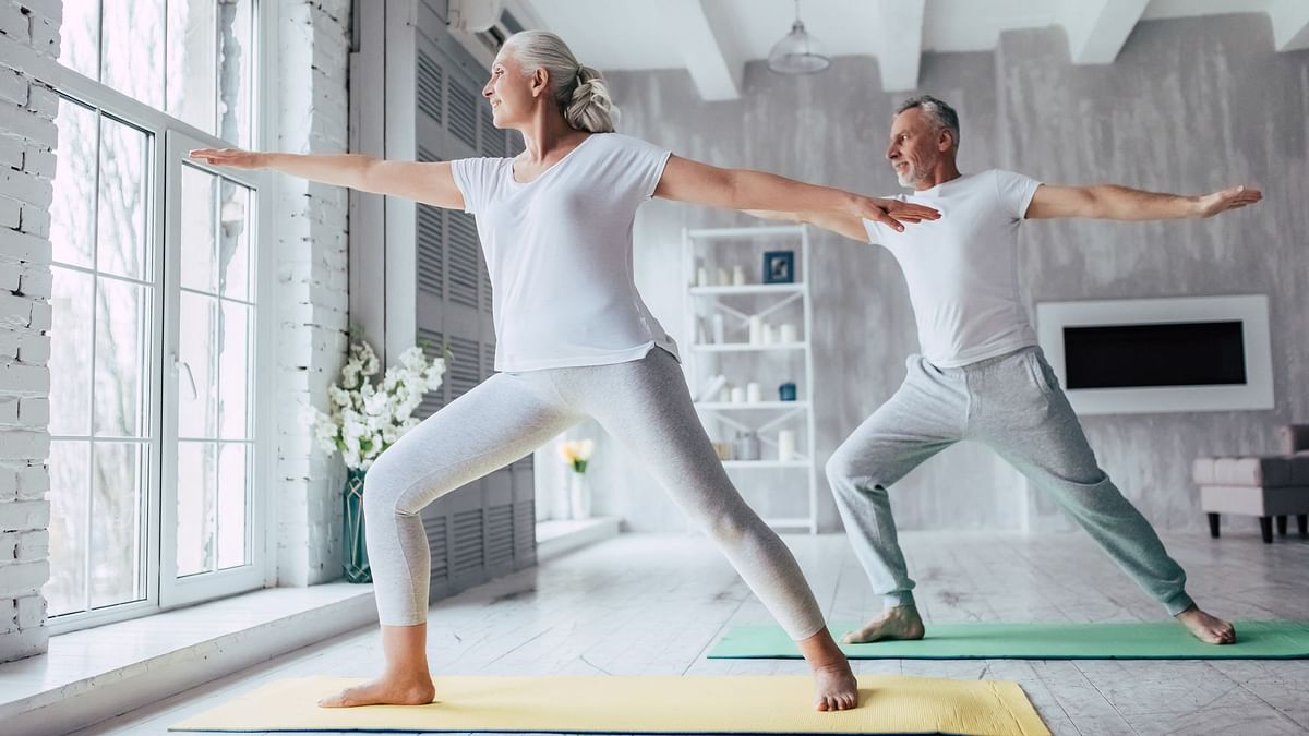 Practising yoga can boost muscle strength and balance in older adults as well as improve mental well-being.