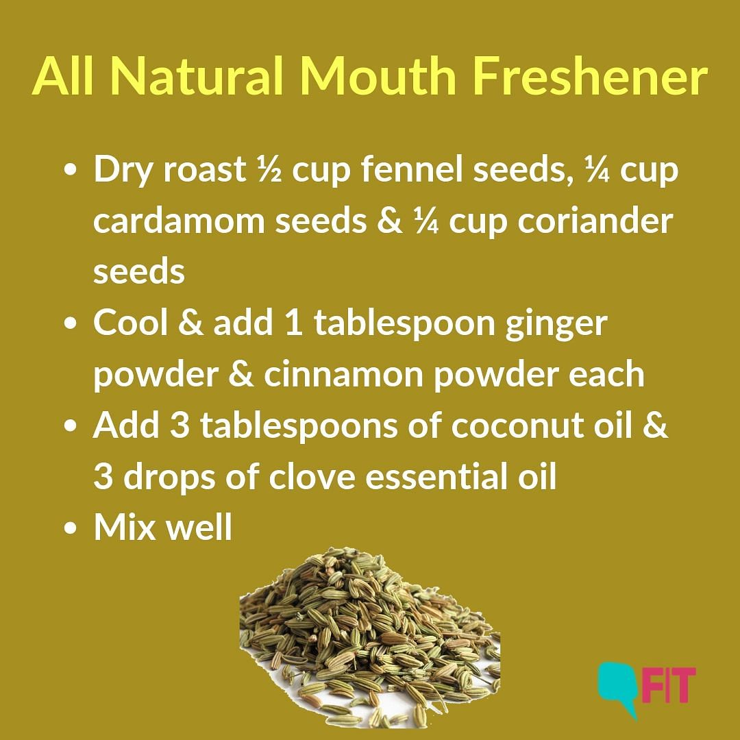 This mouth freshner kills bacteria that cause yellowing of teeth.