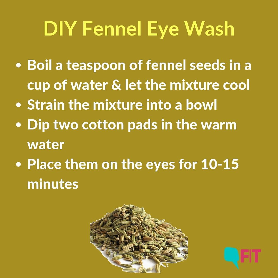 This eye wash also soothes itchy eyes and puffiness.
