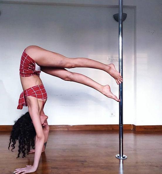 Tania Sudan is a Delhi-based pole trainer. She takes pole dance classes at Vesna Alta Celo.