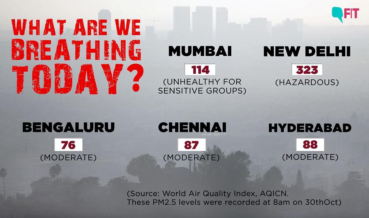 Air Quality Today: Delhi Breathes Hazardous Air, Low Visibility