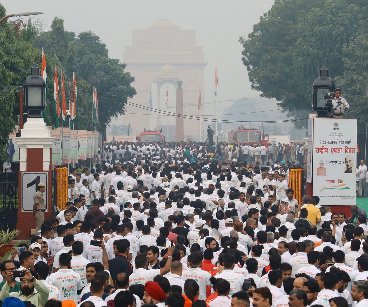 The run was flagged off by Union Home Minister Amit Shah from the national stadium.