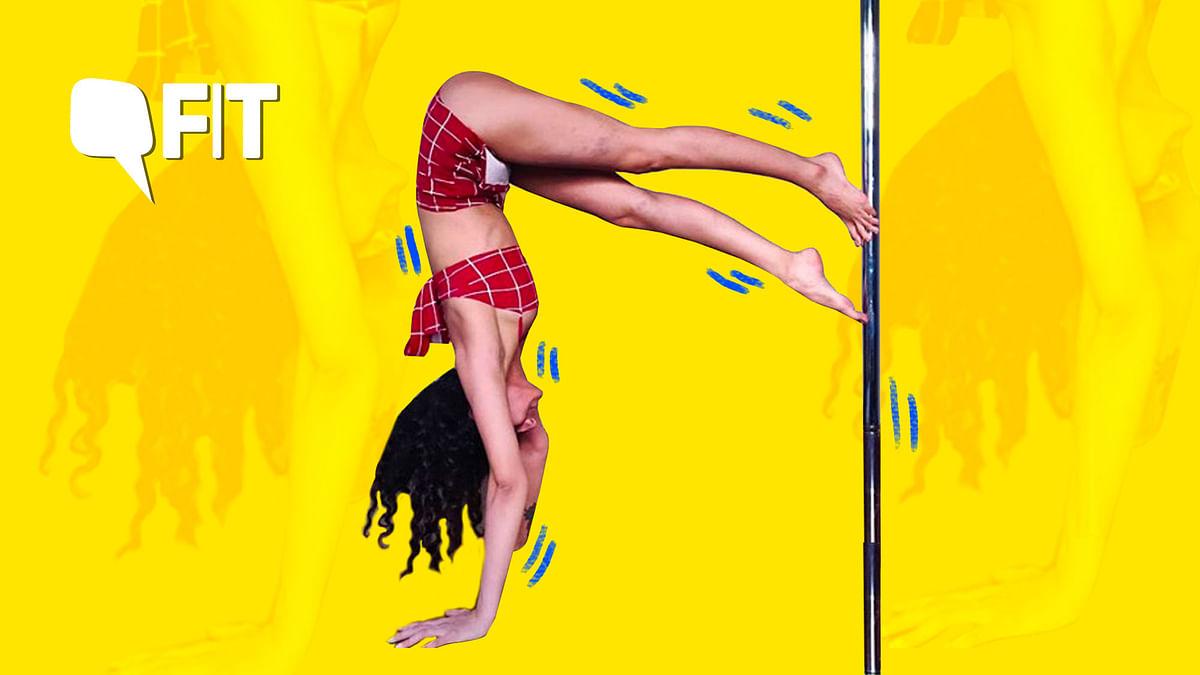 Pole Dance Workout: Tania Sudan is a Delhi-based pole trainer. She takes classes at Vesna Alta Celo.
