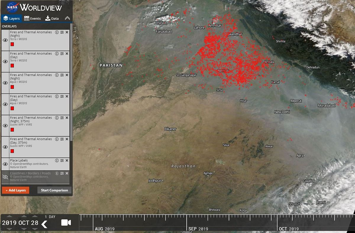 NASA images show an alarming increase in crop burning incidents