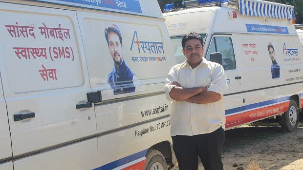 Vikas Singh, the doctor who heads the operations of the Mobile Medical Units at Paryas Society.